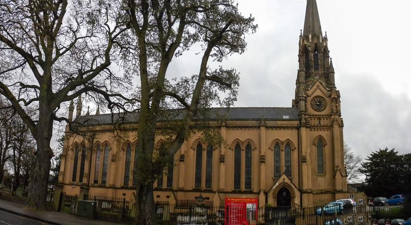 St. Margaret's Church, Lee - Church and churchyard