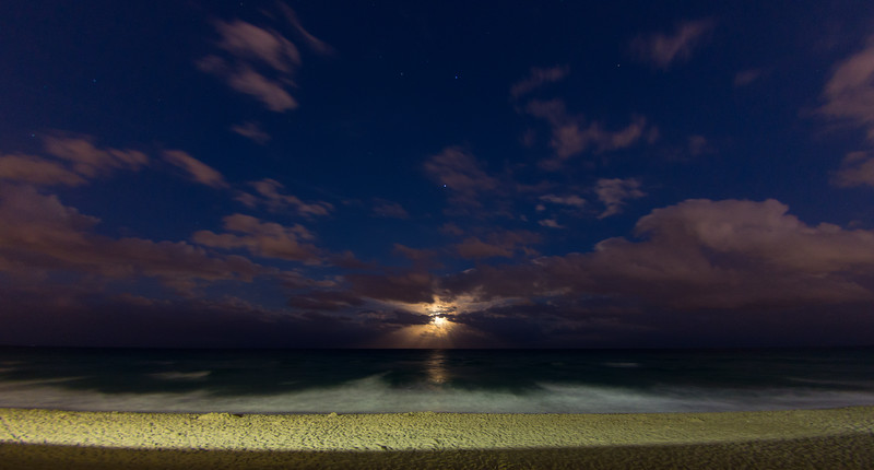 Moon rise over Hallandale beach FL