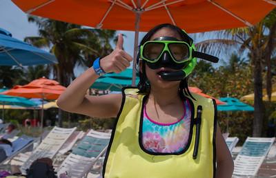 Ready to snorkel; Castaway Cay.