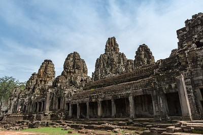 Angkor Thom, 13th century Buddhist temple.
