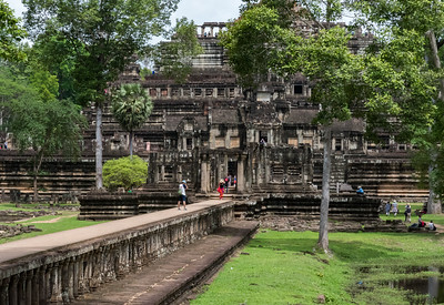 "Smaller 11c Hindu temple (""Ba Pan"") at Angkor Thom."