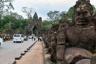 Causeway to Angkor Thom temple grounds.