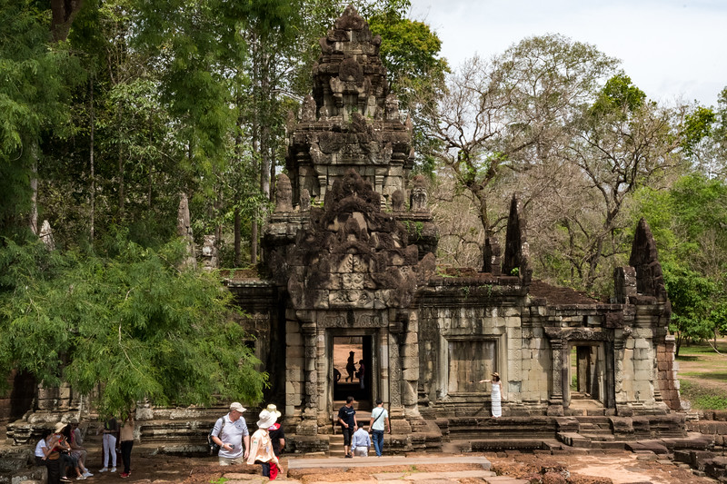Entrance to king's palace - Angkor Thom, 13th century Buddhist temple.