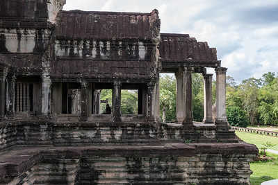 Entrance to the temple courtyard, Angkor Wat, Cambodia