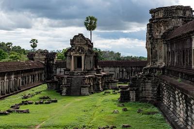 Inner courtyard of Angkor Wat, Cambodia