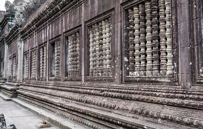 Balusters - always seven balasters - in every window of Angkor Wat, Cambodia