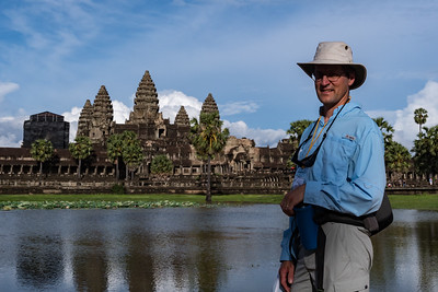 David at Angkor Wat, Cambodia