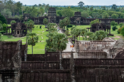 Looking out toward West Gate, Angkor Wat, Cambodia