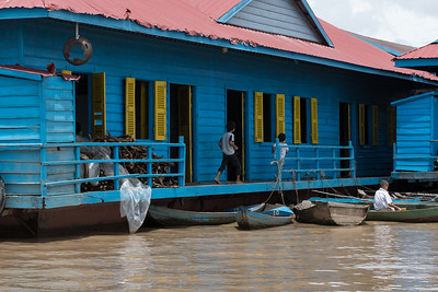 A school in the Floating Village near Siem Reap, Cambodia.