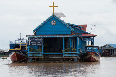 Catholic church in the Floating Village near Siem Reap, Cambodia.