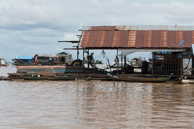 Residences in the Floating Village near Siem Reap, Cambodia.