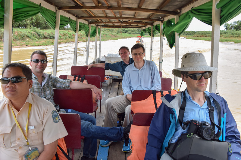 Boat ride to Floating Village on Ton Le Sap.  Photo by Robin Kravets.