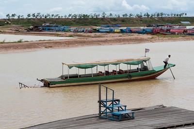 The boat we used to visit the Floating Village near Siem Reap, Cambodia.