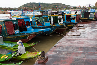 Preparing for boat trip to Floating Village near Siem Reap, Cambodia.
