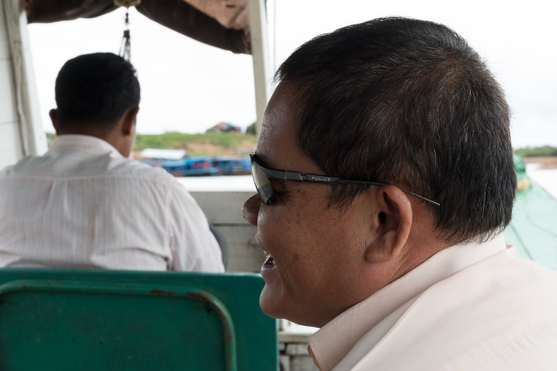 Our guide, Bunrith, on the way to Floating Village near Siem Reap, Cambodia.