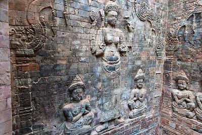 Prasat Kravan - small Angkor-area Hindu temple from 10th century.
