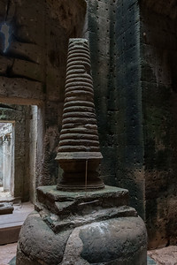 This stupa was later installed at Preah Khan (12c Buddhist temple) to represent Buddha in all its forms.