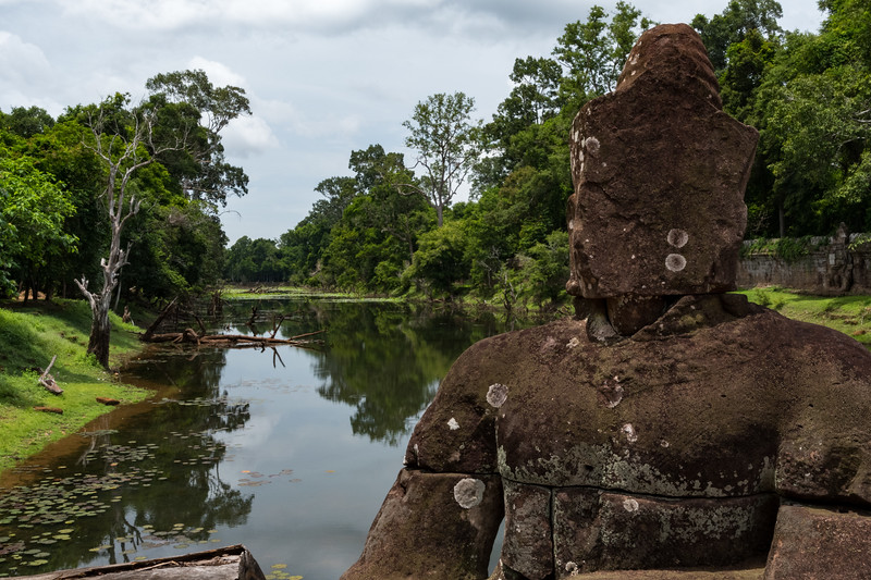 The moat at Preah Khan - 12c Angkor-area Buddhist temple.