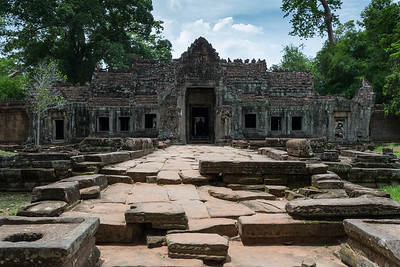 Preah Khan - 12c Angkor-area Buddhist temple.