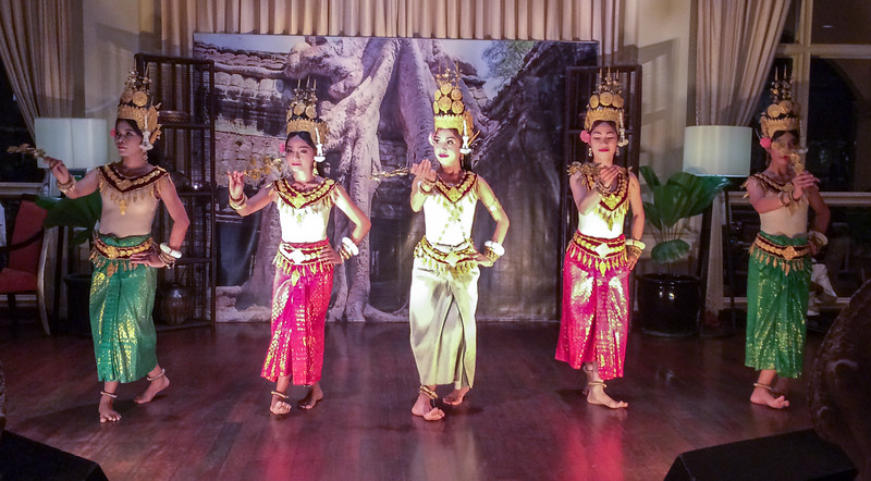 Apsara dancers, Sofitel Hotel, Siem Reap, Cambodia.