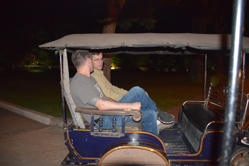 Al and David in a Tuk Tuk on our way into Siem Reap. Photo by Robin Kravets.