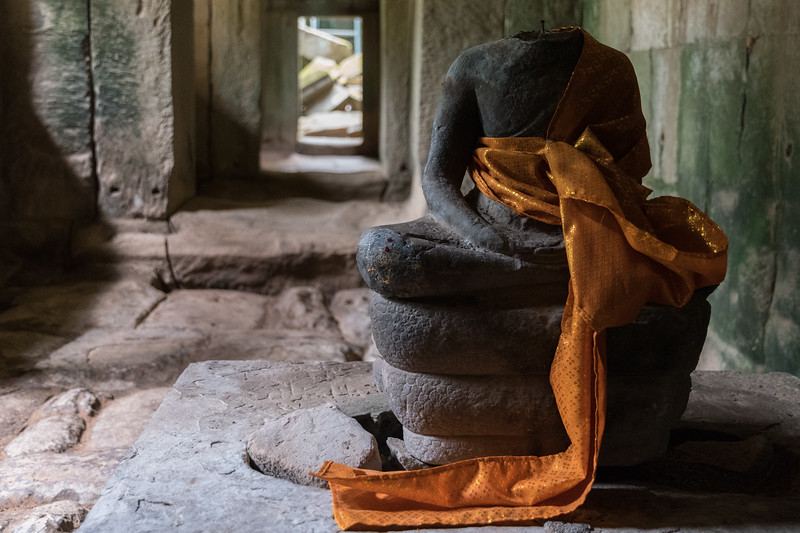 Buddha at Ta Prohm - 11c Buddhist Angkor-area temple