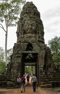 West Gate of Ta Prohm - 11c Buddhist Angkor-area temple