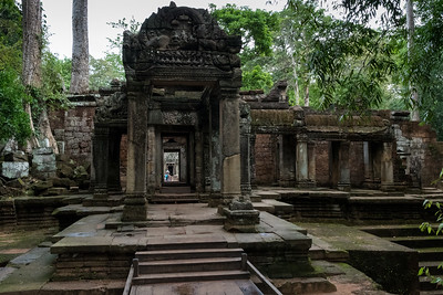 West exit of Ta Prohm - 11c Buddhist Angkor-area temple