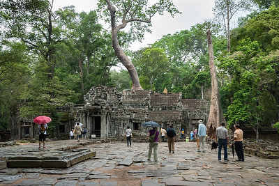 East entrance to Ta Prohm - 11c Buddhist Angkor-area temple