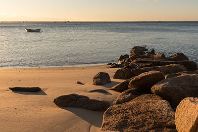 Beach on Provincetown Harbor, Cape Cod.