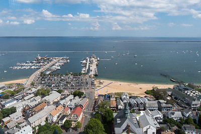 View from Pilgrim Monument, Provincetown, Cape Cod.