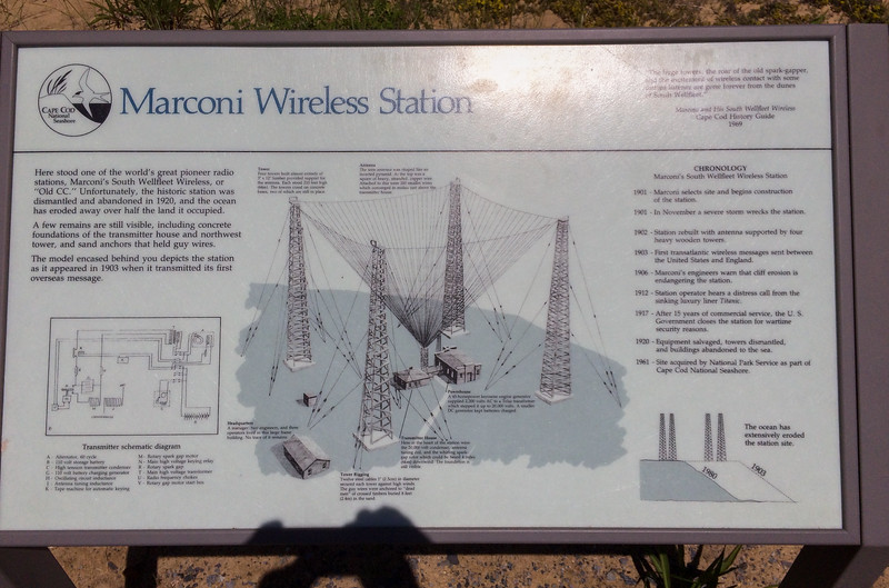 Marconi historic site, Cape Cod: site of the first transatlantic wireless telegraphic message.