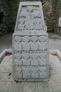Moone Abbey with Moone Celtic High Cross under cover