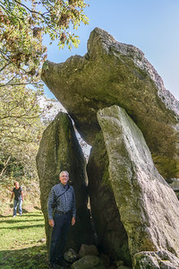 Dolmen, Chris at the Dolmen, Kilmogue Portal Tomb, Kilkenney, About 6,000 years ago