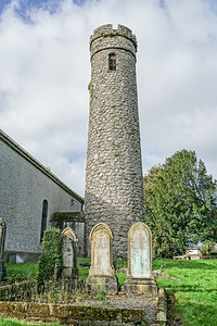 Castledermot Round Tower and Crosses, Monastery from 1100's