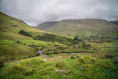 Connemara, Ireland, view from van