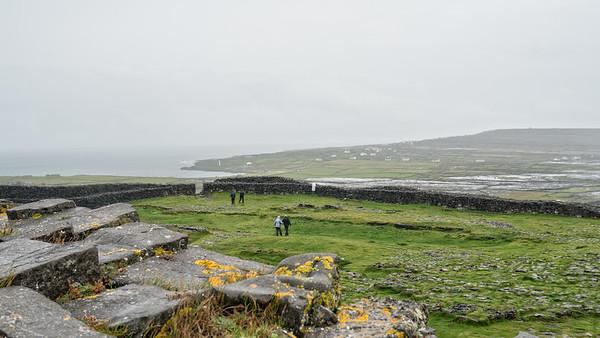 Leaving Dun Aengus, Inis Mor, Aran Isles, Ireland
