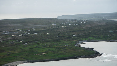 Coming in for landing at Inis Mor, Aran Isles, Ireland
