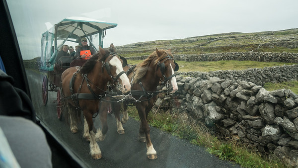 Transportation and stone walls, Inis Mor, Aran Isles, Ireland