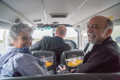 Leslie and Dave on the way to Aran Isles in plane4