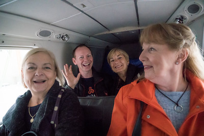 Sheila, Phil, Susan, Dorothy in the plane to Inis Mor, Aran Isles