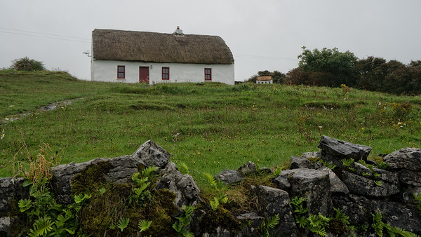 Thatched house on Inis Mor, Aran Isles, Ireland