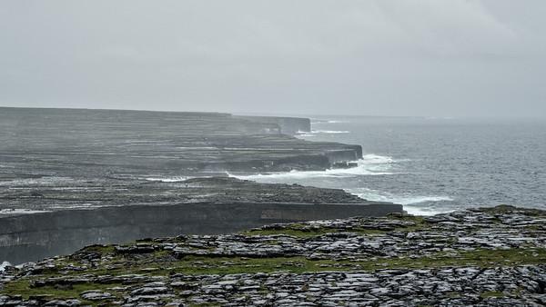 View of coast from Dun Aengus, Inis Mor, Aran Isles, Ireland