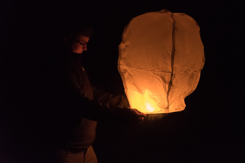 New Year's Eve at Kiawah - launching Chinese lanterns with wishes for the new year.