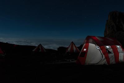 Lava Tower campsite, at 15,200'.