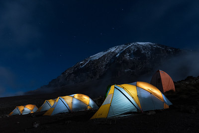 Evening at Karanga Camp, Kilimanjaro.