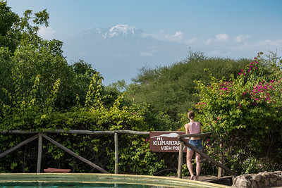 View of Kilimanjaro from KIA Lodge, near the airport.