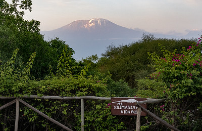 Mt. Kilimanjaro from KIA Lodge viewpoint.