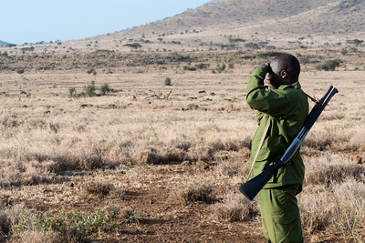 This ranger escorted us on a walking safari - Ndarkwai Ranch, Tanzania