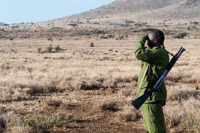This ranger escorted us on a walking safari - Ndarkwai Ranch, Tanzania